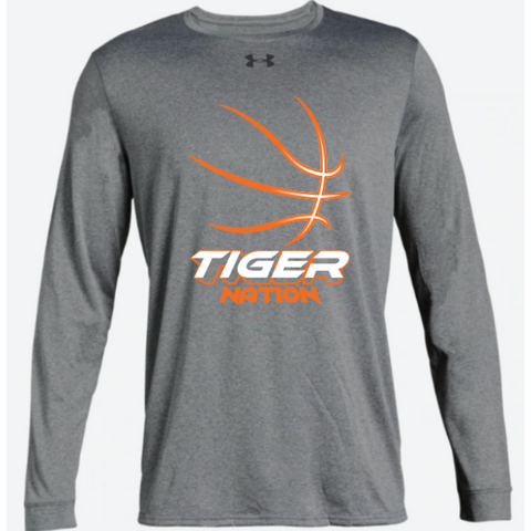 Farmington Basketball Adult Under Armour (Locker Tee 2.0 LS) Gray