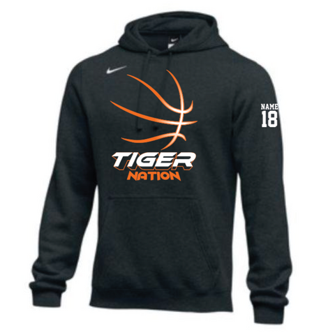 Farmington Basketball Adult Nike (HOODIE PO FLC CLUB) Black