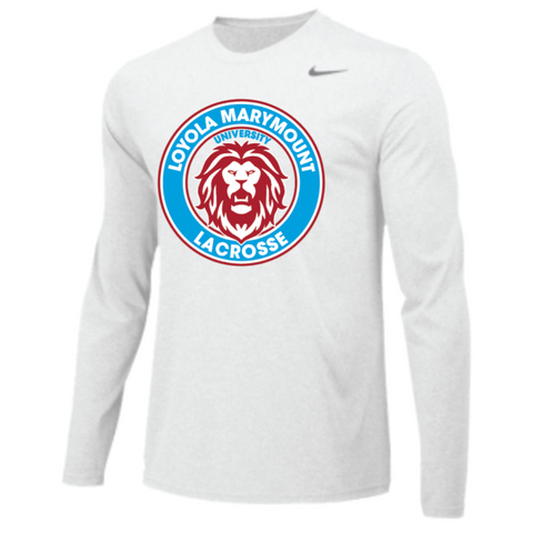 LMU Lacrosse Men's Nike (Team Legend LS Crew) White