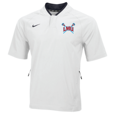 LMU Lacrosse Men's Nike (STK BSBL SS HOT JACKET) White