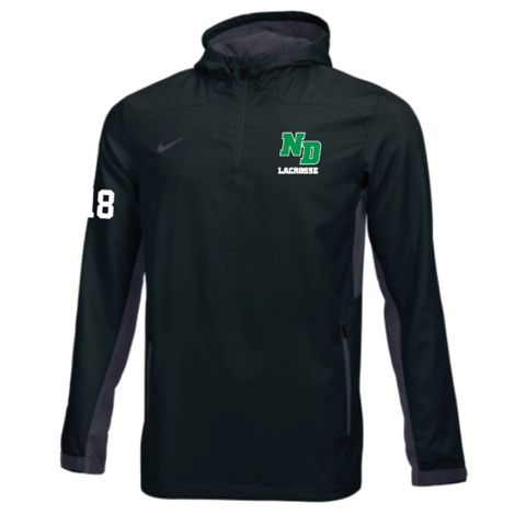 ND Lacrosse Adult Nike (STOCK WOVEN 1/4 ZIP JACKET) Black