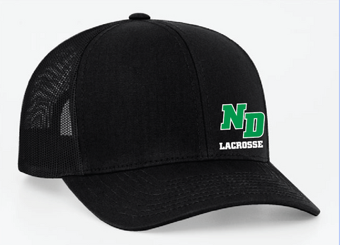 ND Lacrosse Pacific Headwear (TRUCKER MESH) Black