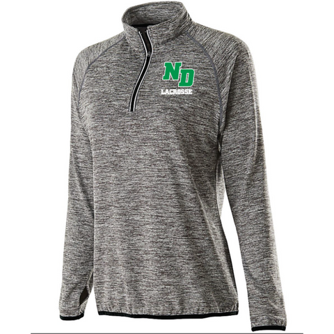 ND Lacrosse Women's Holloway (FORCE TRAINING TOP) Black/Graphite