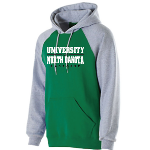 ND Lacrosse Adult Holloway (BANNER HOODIE) Gray/Green