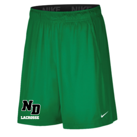 ND Lacrosse Men's Nike (2 POCKET FLY SHORT) KELLY GREEN