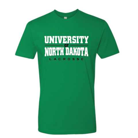 ND Lacrosse Adult Next Level (Premium Short Sleeve Crew) Kelly Green