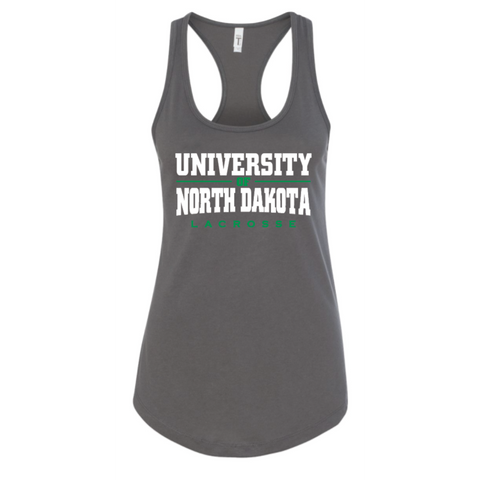 ND Lacrosse Women's (Ideal Racerback Tank) Gray