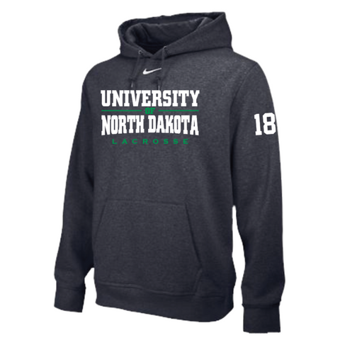 ND Lacrosse Men's Nike (Hoodie Po Flc Club) Anthracite
