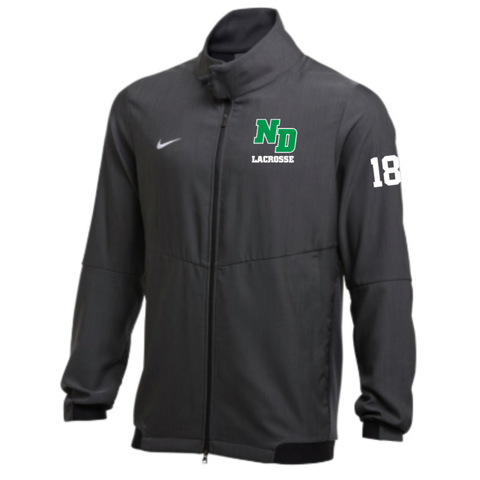 ND Lacrosse Men's Nike (Jacket TRAVEL 2.0) ANTHRACITE