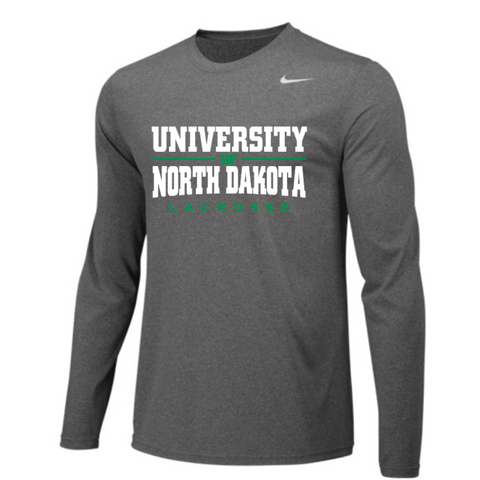 ND Lacrosse Men's Nike (Team Legend LS Crew) Gray
