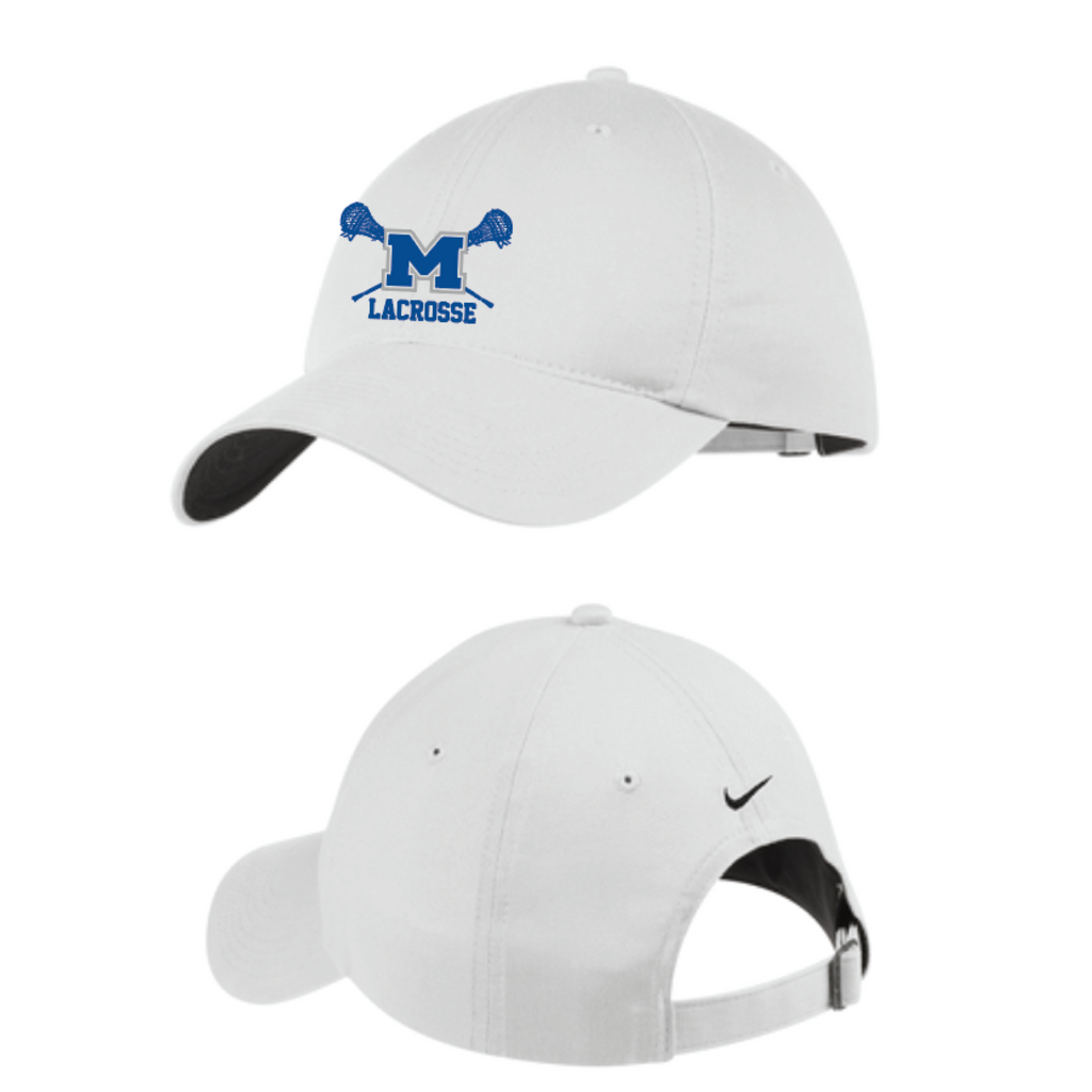 Mandeville Lacrosse Men's Nike (Unstructured Twill Cap) White