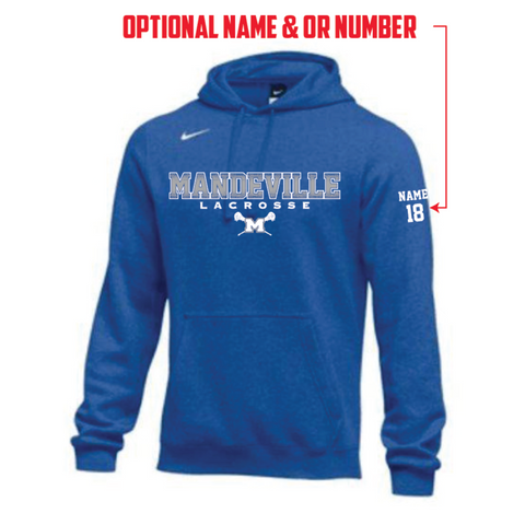 Mandeville Lacrosse Men's Nike (Hoodie PO FLC Club) Royal