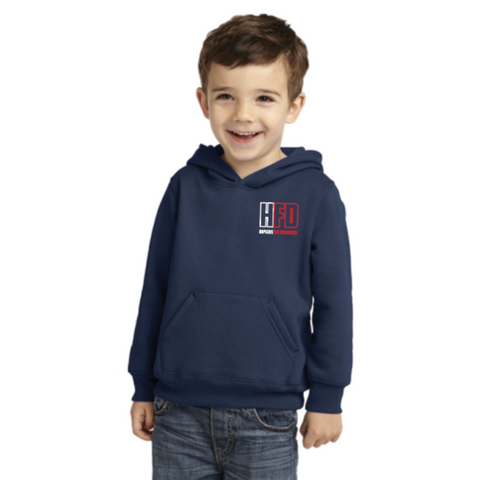 Hopkins Fire Toddler Port & Company (Core Fleece Pullover Hooded Sweatshirt) Navy