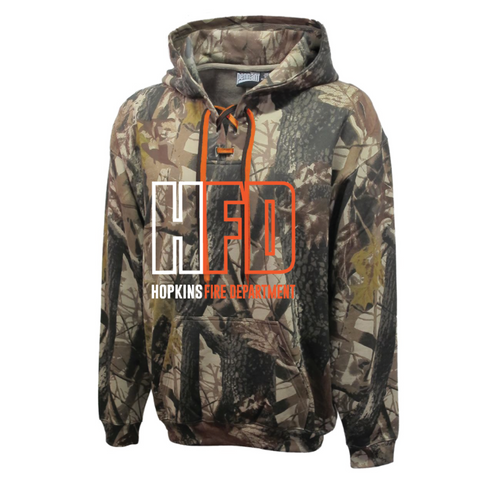 Hopkins Fire Men's Pennant (Camo Face off Hoodie)
