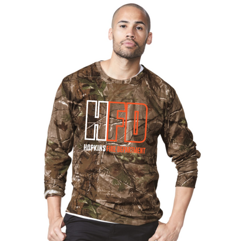Hopkins Fire Men's Code Five (Realtree Camo Long Sleeve Tee)