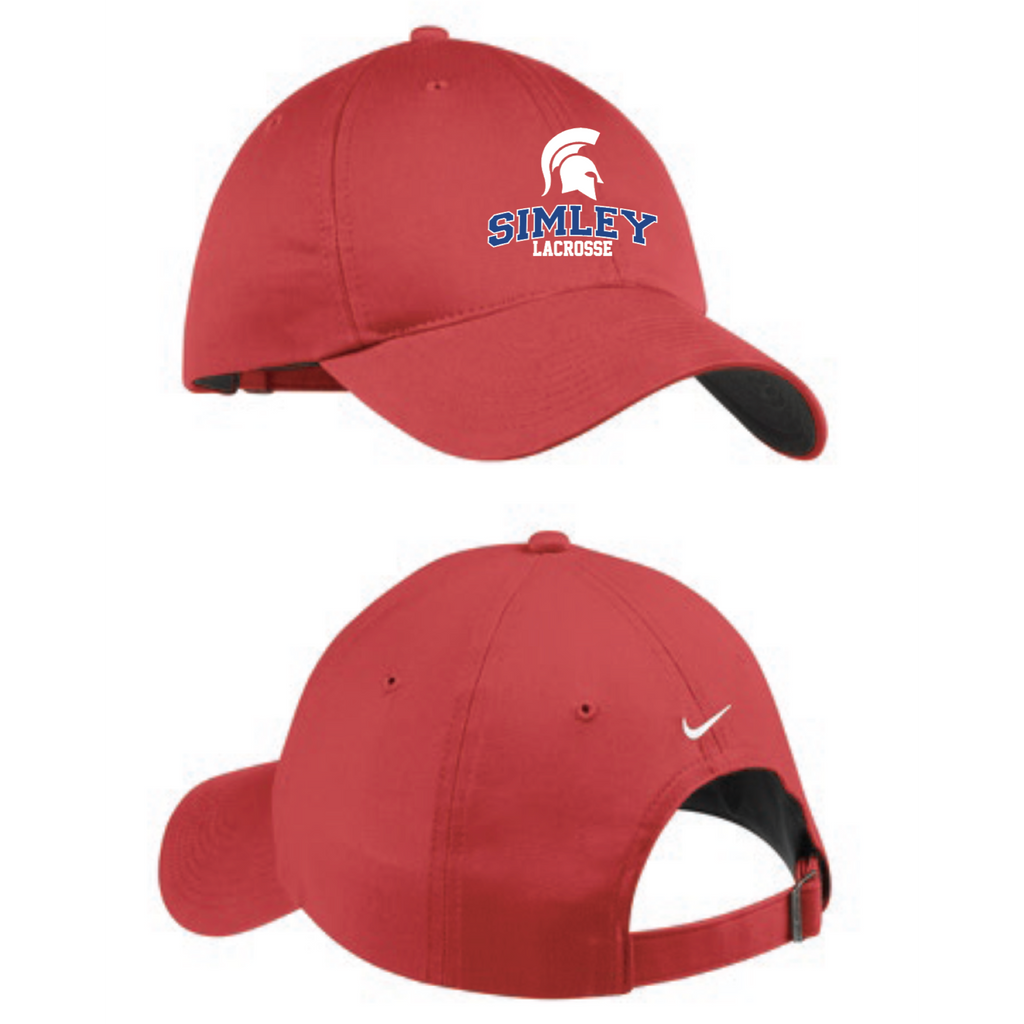 Simley Lacrosse Men's Nike (Unstructured Twill Cap) Red