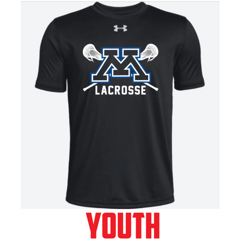 Minnetonka Lacrosse Youth Under Armour (Locker Tee SS 2.0) Black