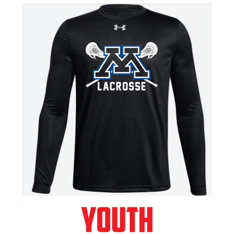 Minnetonka Lacrosse Youth Under Armour (Locker Tee LS) Black
