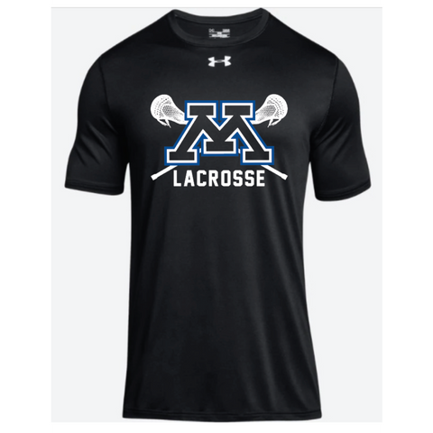 Minnetonka Lacrosse Adult Under Armour (Locker Tee) Black