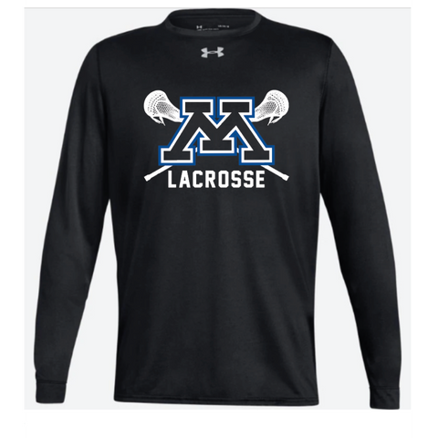 Minnetonka Lacrosse Adult Under Armour (Locker Tee 2.0 LS) Black