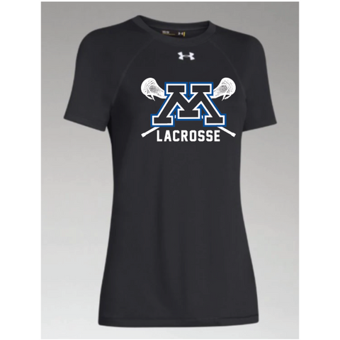 Minnetonka Lacrosse Women's Under Armour (Locker Tee 2.0) Black