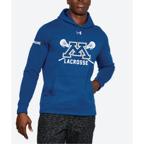 Minnetonka Lacrosse Adult Under Armour (Hustle Fleece Hoody) Royal