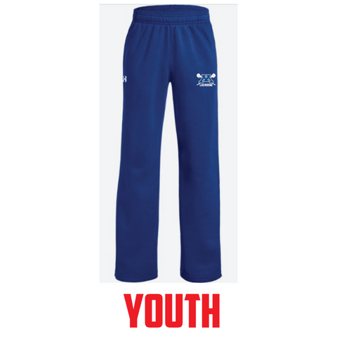 Minnetonka Lacrosse Youth Under Armour (Hustle Fleece Pant) Royal