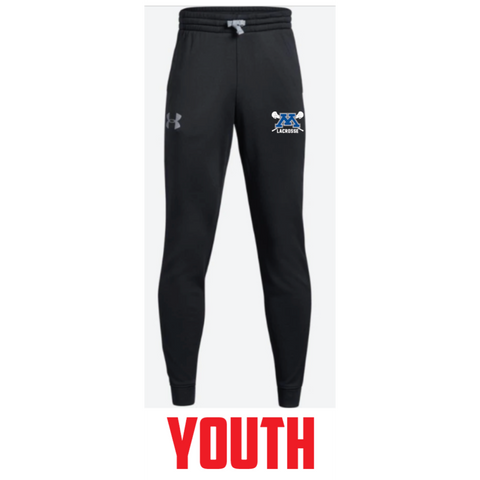 Minnetonka Lacrosse Youth Under Armour (Armour Fleece Jogger) Black