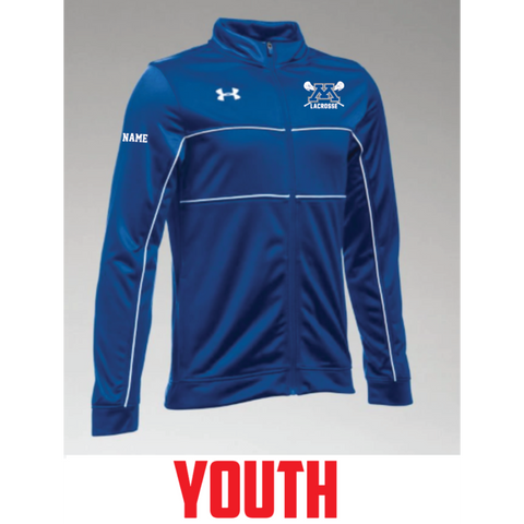 Minnetonka Lacrosse Youth Under Armour (Rival Knit Warm Up Jacket) Royal