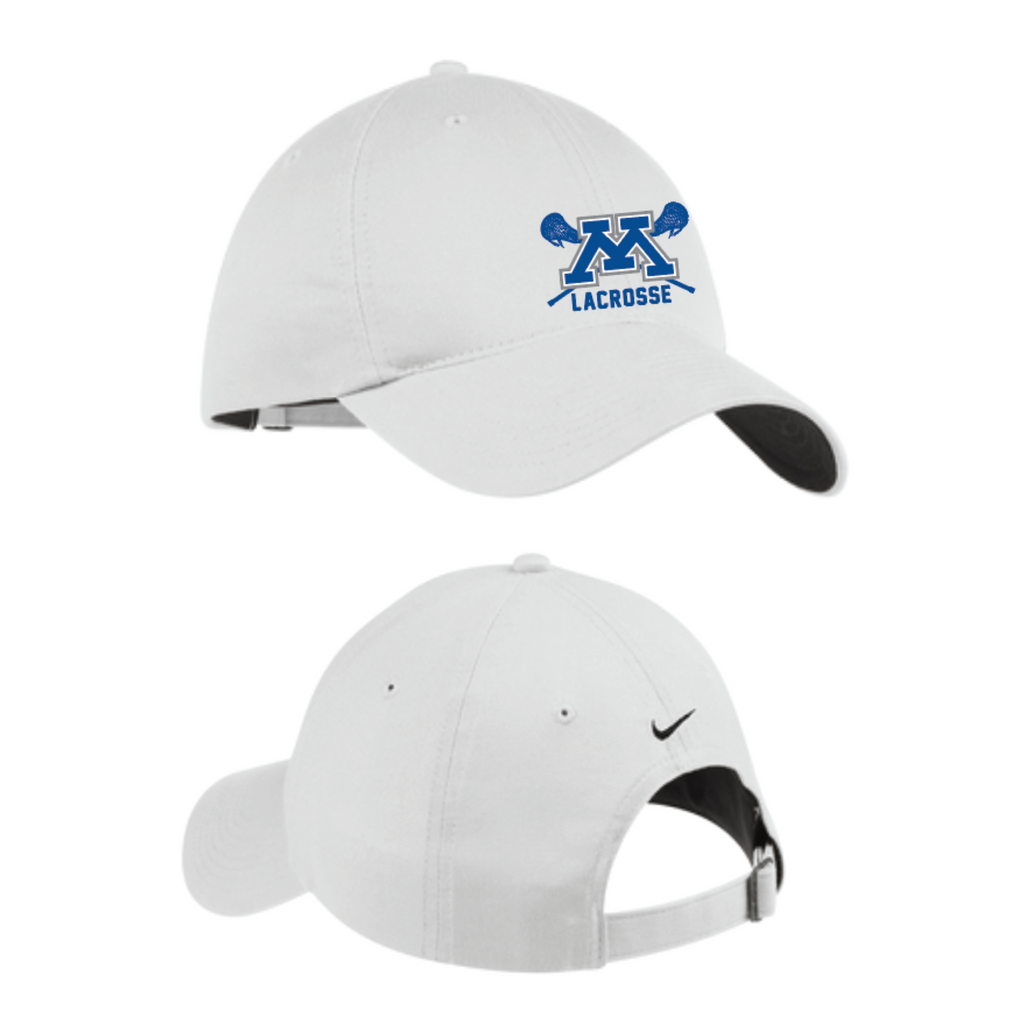Minnetonka Lacrosse Nike (Unstructured Twill Cap) White