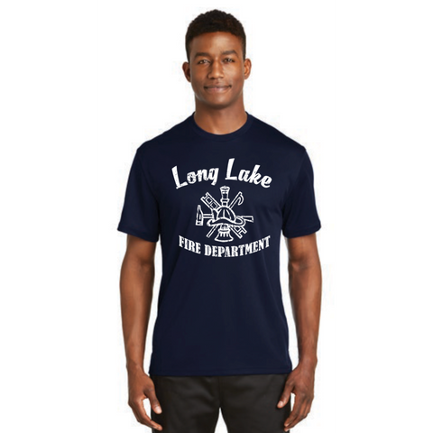 Long Lake Fire Men's Sport-Tek (Dri-Mesh® Short Sleeve T-Shirt) Navy