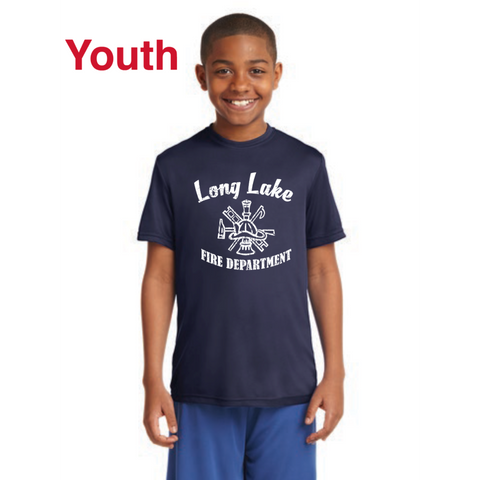 Long Lake Fire Youth Sport-Tek (Long Sleeve PosiCharge® Competitor™ Tee) Navy