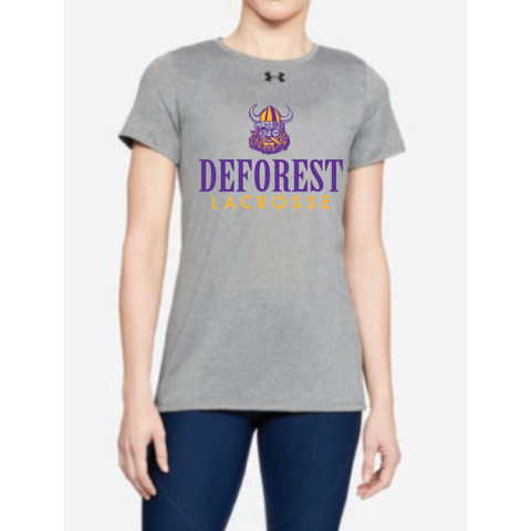 DeForest Lacrosse Women's Under Armour (Locker T) Gray
