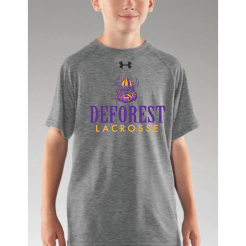 DeForest Lacrosse Youth Under Armour (Locker T SS) Gray