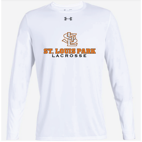 SLP Lacrosse Adult Under Armour (Locker Tee 2.0 LS) White