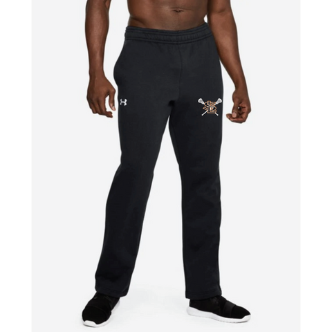 SLP Lacrosse Men's Under Armour (Hustle Fleece Pant) Black
