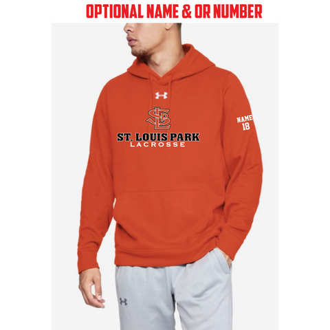 SLP Lacrosse Men's Under Armour (Hustle Fleece Hoody) Orange