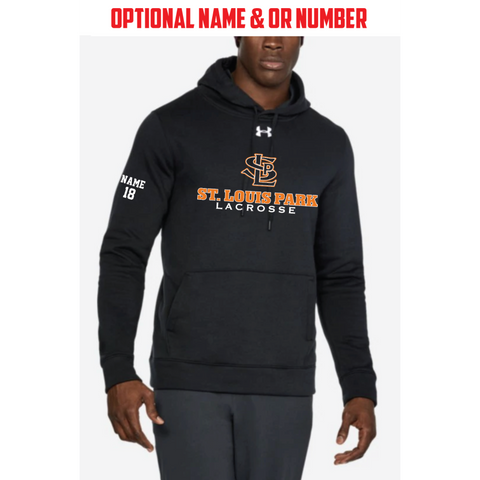 SLP Lacrosse Men's Under Armour (Hustle Fleece Hoody) Black