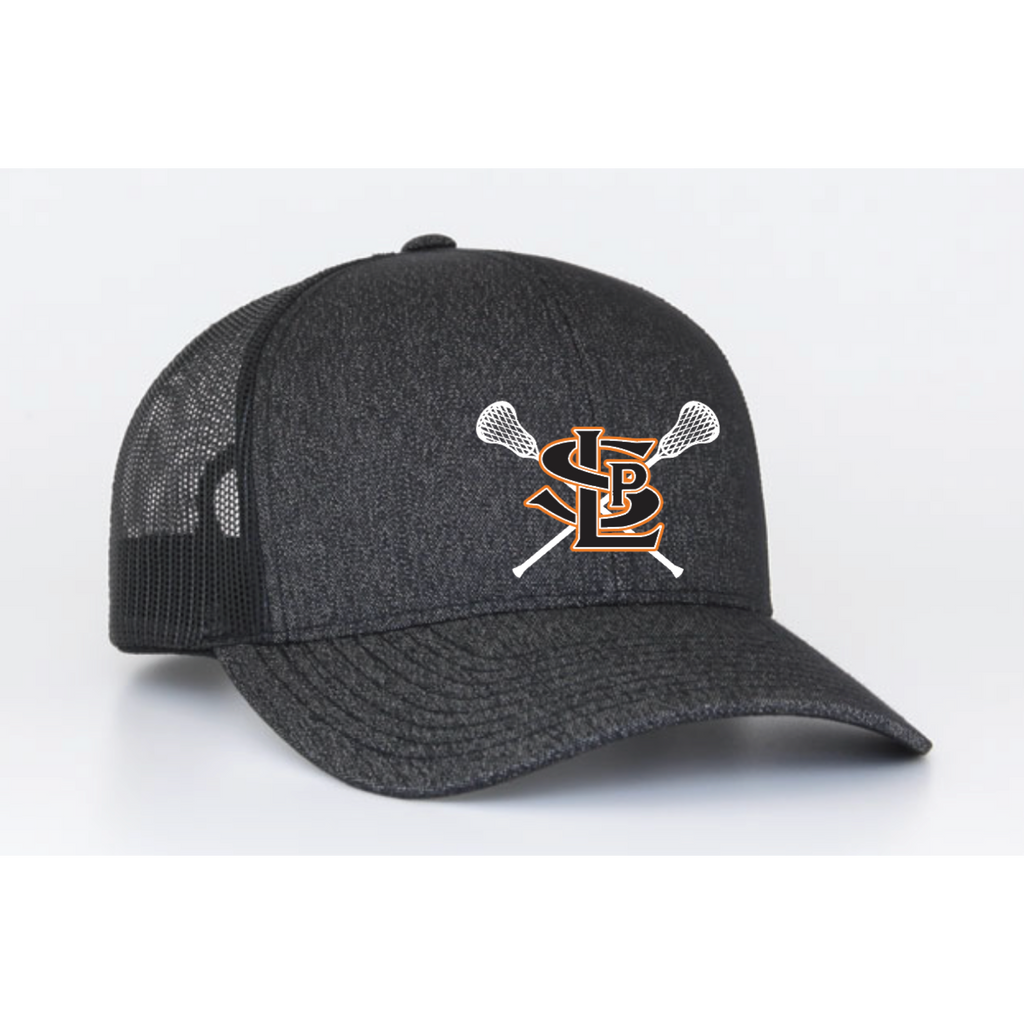 SLP Lacrosse Pacific Headwear (TRUCKER MESH) Black/Charcoal
