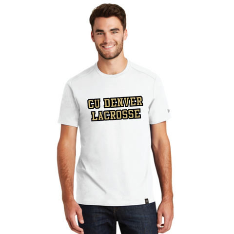 Denver Lacrosse Men's New Era (Heritage Blend Crew Tee) White