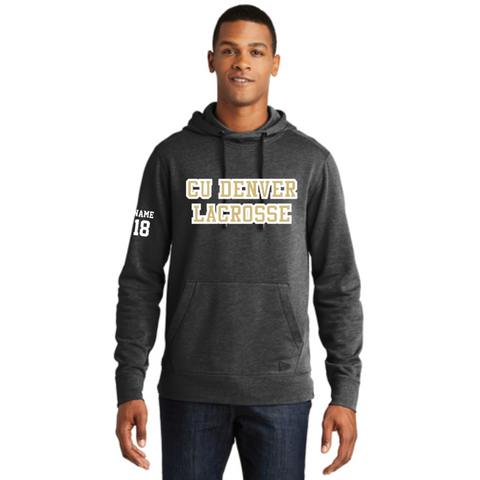 Denver Lacrosse Men's New Era (Tri-Blend Fleece Pullover Hoodie) Heather Black