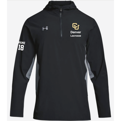 Denver Lacrosse Adult Under Armour (Squad Wvn 1/4 Zip) Black