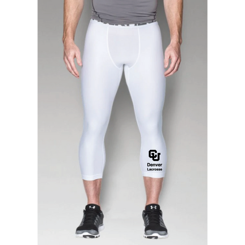 Denver Lacrosse Men's Under Armour (HG ARMOUR 2.0 3/4 LEGGING) White