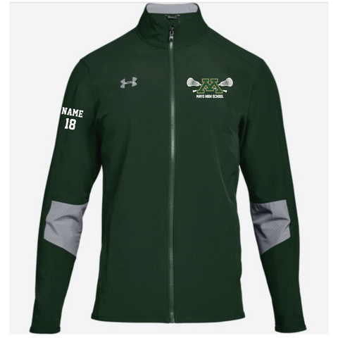Mayo Lacrosse Men's Under Armour (Squad Wvn W-Up Jkt) Forest Green