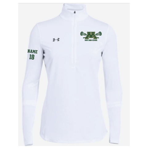 Mayo Lacrosse Women's Under Armour (Locker 1/2 Zip) White