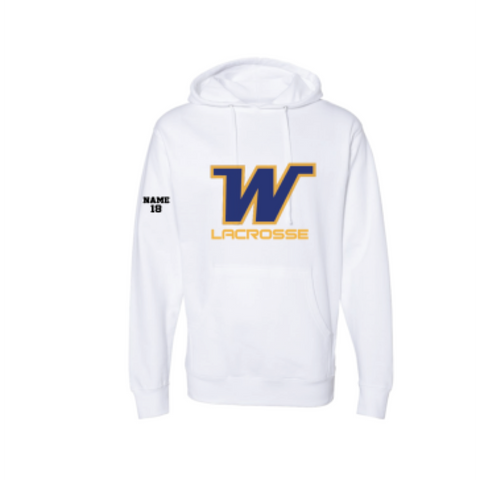 Wayzata Lacrosse Adult Independent Trading Co. (Midweight Hoodie) White