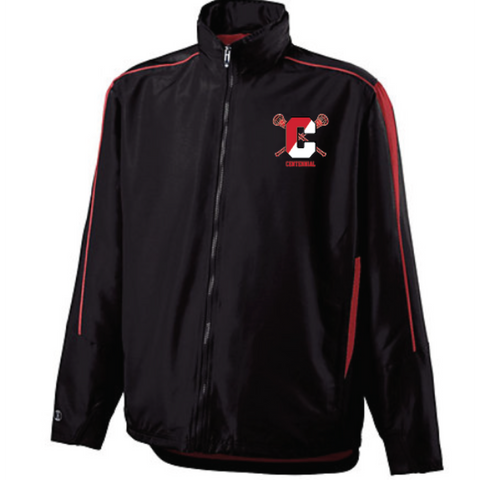 Centennial Lacrosse UNISEX Hooded Jacket (AGGRESSION JACKET) - Black/Red