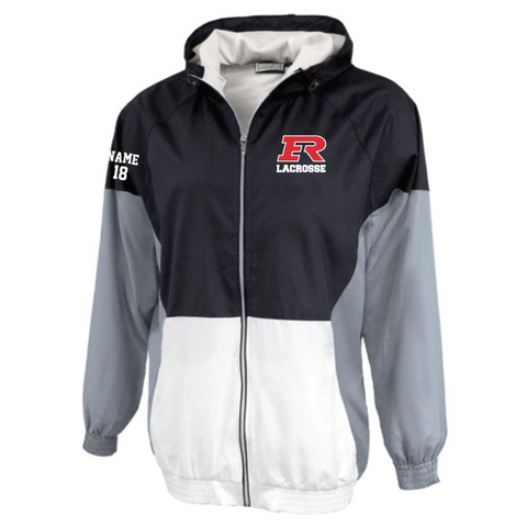 Elk River Lacrosse Adult Pennant (Trident Jacket) - Black/Grey/White
