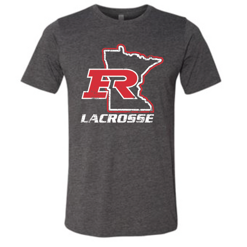 Elk River Lacrosse Unisex Next Level (Poly/Cotton Crew) - Charcoal