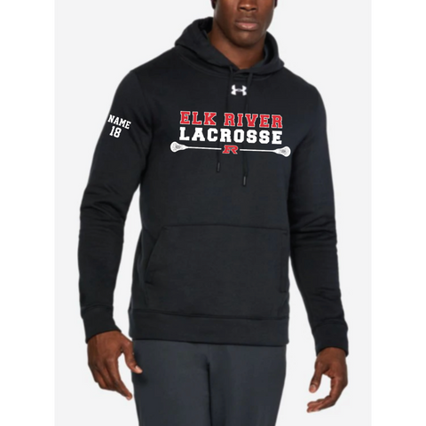 Elk River Lacrosse Men's Under Armour (Hustle Fleece Hoody) - Black